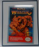 Tecmo World Wrestling framed poster, size 51x41cm