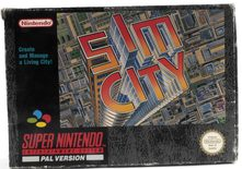 EMPTY BOX - Sim City (box + manual, no game!)