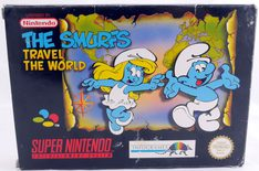 EMPTY BOX - The Smurfs Travel The World (Box + Manual, NO Game!)