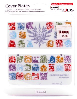 New Nintendo 3DS Cover Plates Monster Hunter 4 Ultimate White