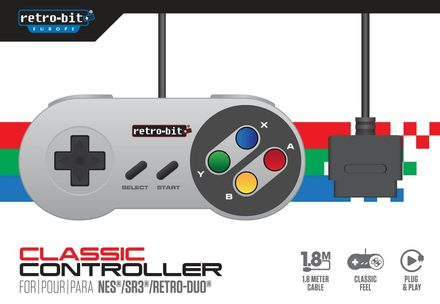 Retro-Bit Classic Controller for SNES / Super Famicom / SR3 / RetroDuo