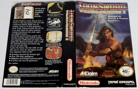 IronSword: Wizards & Warriors II (Original YAPON Rental Cover Paper)