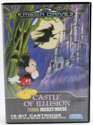 Castle Of Illusion Starring Mickey Mouse (Cover + Manual, NO GAME)