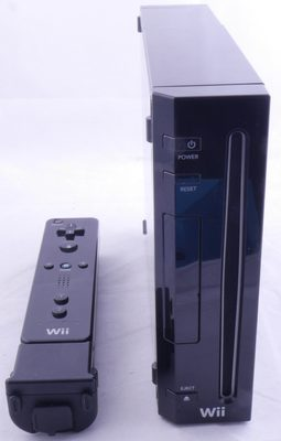 Wii Console (Black Model RVL-001 With GC Support)