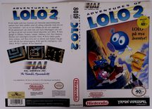 Adventures Of Lolo 2 (Original YAPON Rental Cover Paper)