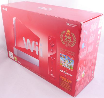 Wii Console (Red Model RVL-001 With GC Support) Bundle