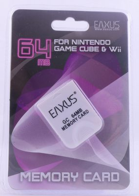 Eaxus 64MB Memory Card For Gamecube And Wii