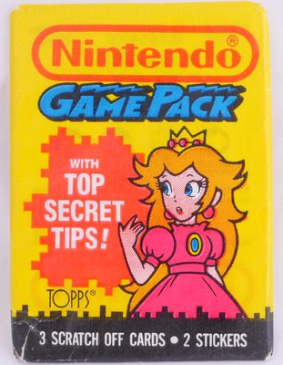 Topps Nintendo Game Pack (3 Scratch Off Cards, Princess Toadstool Cover)