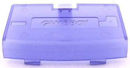 Game Boy Advance Battery Cover (Clear Purple)