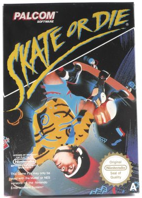 EMPTY BOX - Skate Or Die! (box only, no game!)