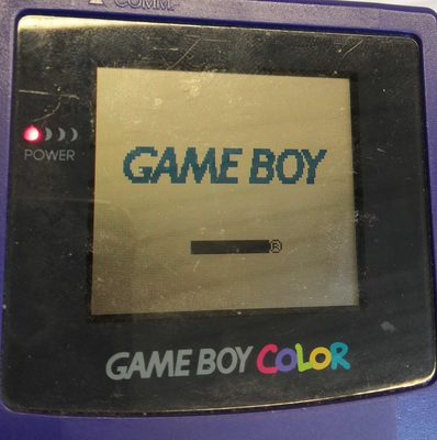 Game Boy Color Console (Battery Cover Missing) (Dark Purple)