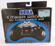 EMPTY BOX - Sega Mega Drive Controller 6 Button (Box and manual only, no controller included!)