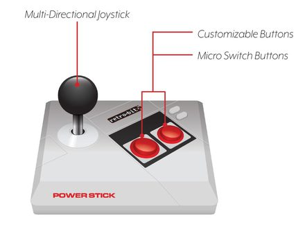 Retro-Bit NES Power Stick