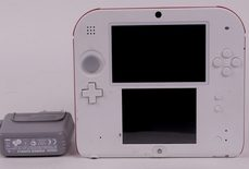 Nintendo 2DS Console (White + Red AKA Scarlet Red)
