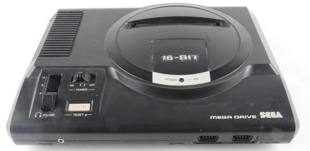 Sega Mega Drive I Console with Widened/Modified Cartridge Slot (No Controller Or Cables)