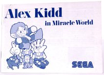 Alex Kidd in Miracle World (Manual)